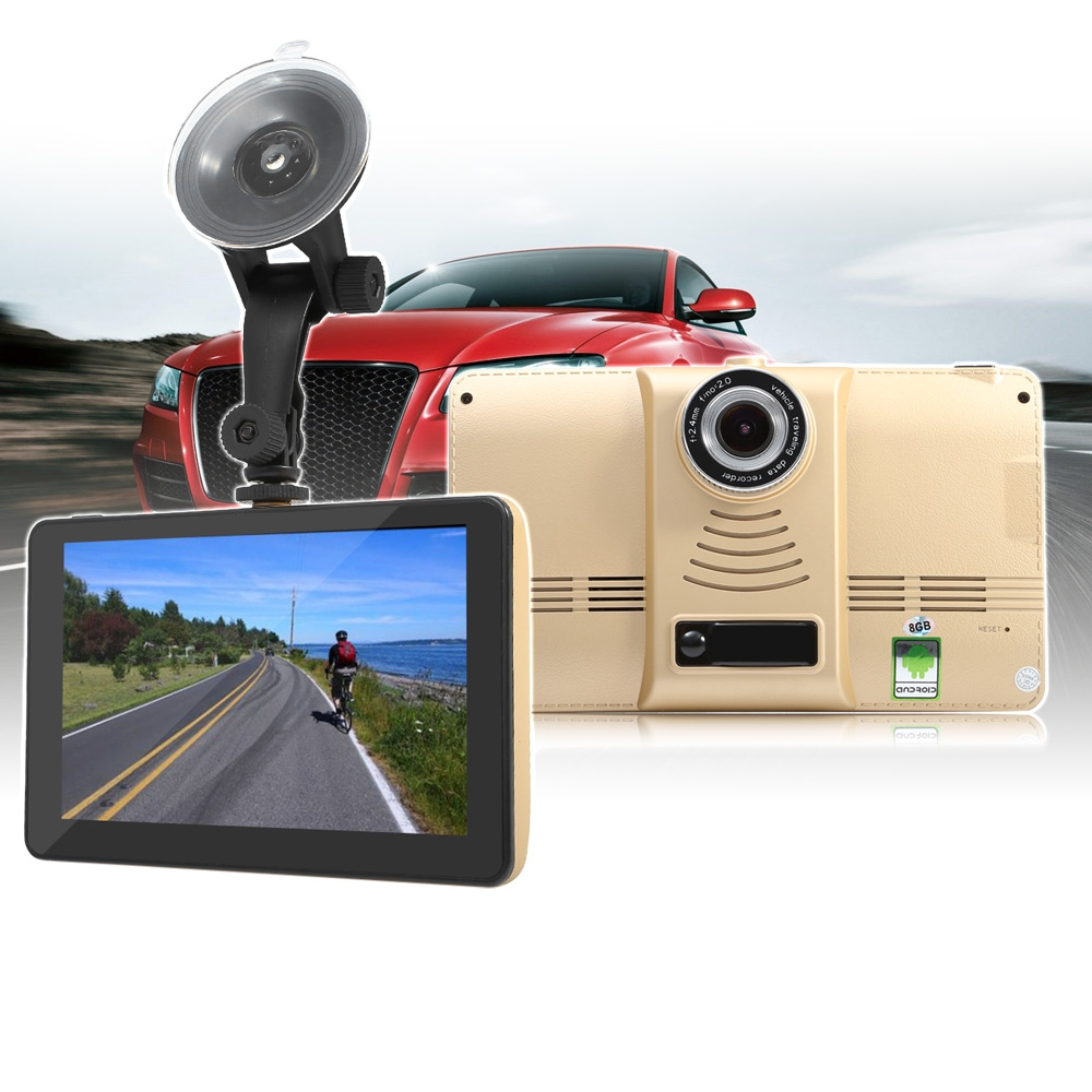 901 Multifunctional 7 inch Android 4.4 Car Tablet GPS 170 Degree Wide Angle 1080P DVR Recorder WiFi / 3G FM Transmitter 5 inch android dash cam 4 4 car tablet gps 170 degree wide angle 1080p dvr recorder wifi 3g fm transmitter wifi touch screen