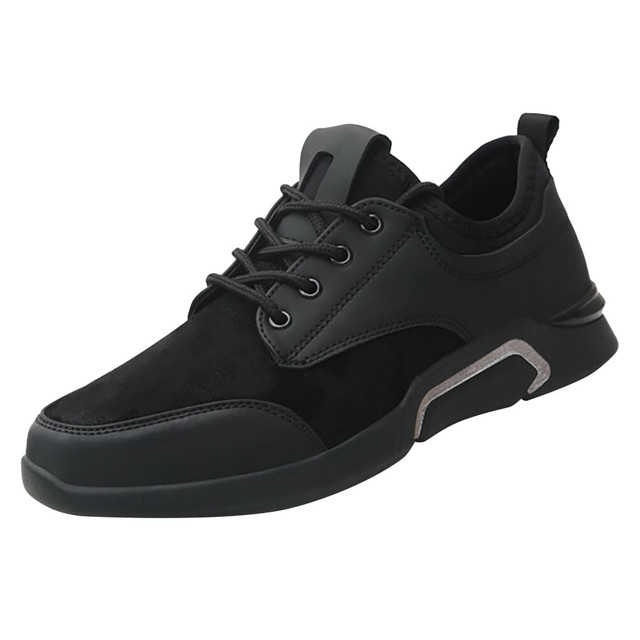 Perimedes Black Lace-Up Men's Sneakers Casual 1