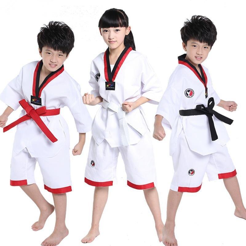 Mooto тхэквондо добок одежда ребенок взрослый mooto ITF Каратэ костюм тхэквондо равномерной каратэ одежда Гонг-фу тренер Костюмы