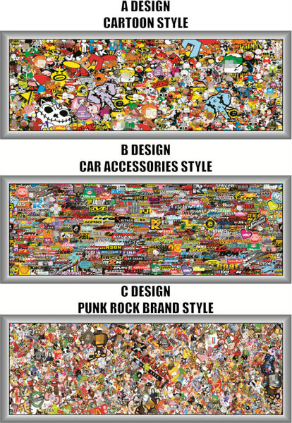 33 130 cm Glossy Vinyl Stickers on Cars JDM Graffiti Car Sticker Bomb Wrap Stickers Motorcycle Accessories Decals Car Styling in Car Stickers from Automobiles Motorcycles