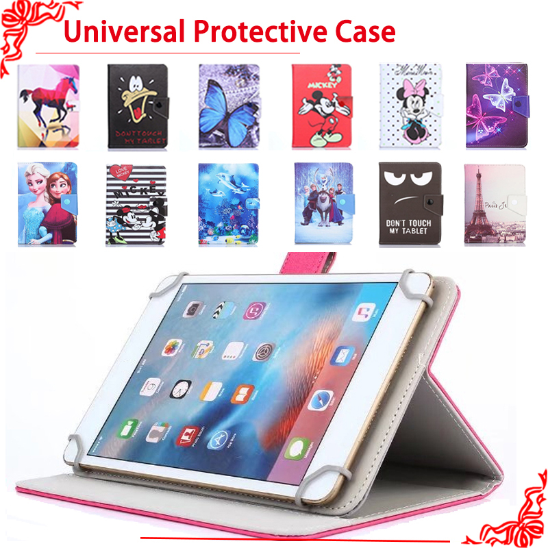 Universal case for Digma Plane 7004 3G 7 Inch Tablet PU cartoon Leather Protective Case Cover + free 3 gifts планшет digma plane 7012m 3g red ps7082mg