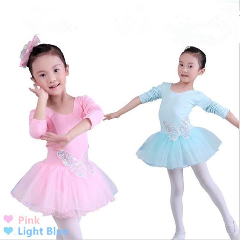 Dance Dress Ballet Dancewear For Children Girls Costums Skirts Saia Sequins Lovely Butterfly  Cotton Princess Dress Hot Sale