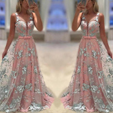 Womens formal Dress for party Printing Floral  Prom Bohemia vestidos ouc436a