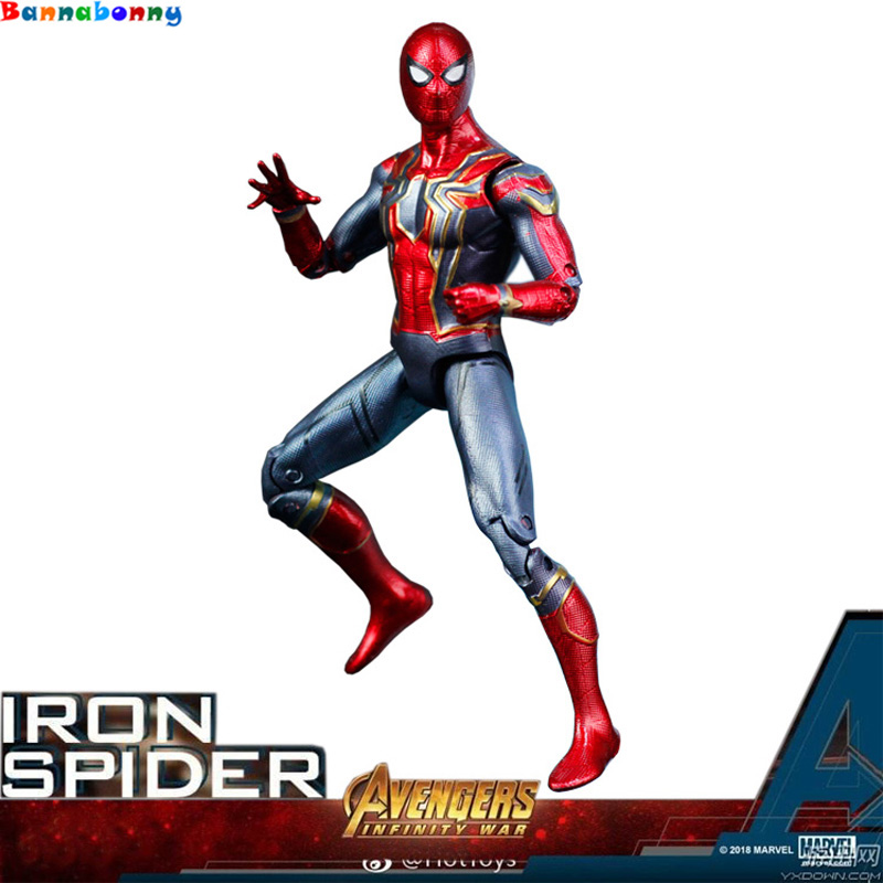 2018 17CM Marvel Toys Avengers Infinite War Spiderman PVC Action Figure Superhero Figures Spider-man Collectible Model Dolls Toy marvel select avengers hulk pvc action figure collectible model toy 10 25cm