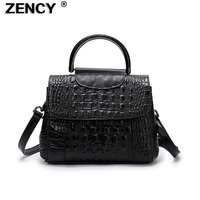Small New Arrival 100% Genuine Real Leather Women's Handbag Tote Bags Embossed Crocodile Alligator Pattern Cowhide Ladies Purse