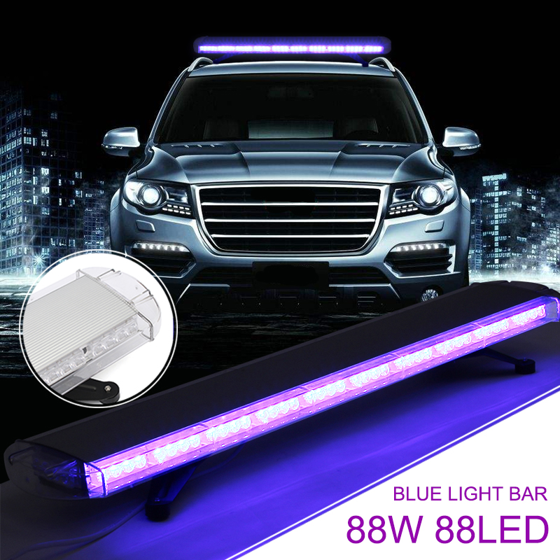 88W 88Led Special Blue Light Bar Emergency Beacon Tow Truck Response Strobe Lamp 12/24V LED Work Light Bar Emergency Light castaleca high power 88w 47 88led emergency warning beacon car truck strobe light bar roof top multiple colour flashing lamp