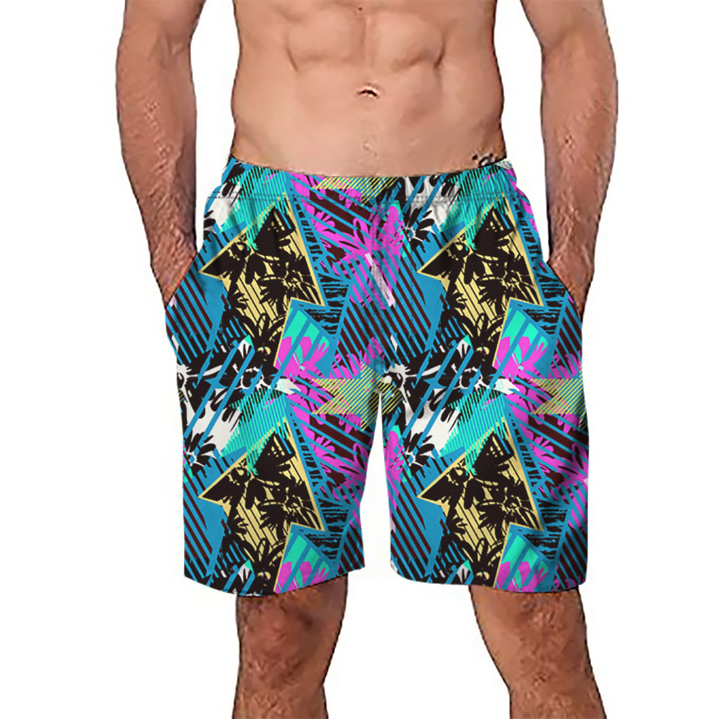 Boardshorts Feb.23 Chamsgend Shorts Männer Kurze Badehose Schnell Trocken Multi Farbe Strand Surfen Schwimmen Watershort Maillot De Bain Homme 47