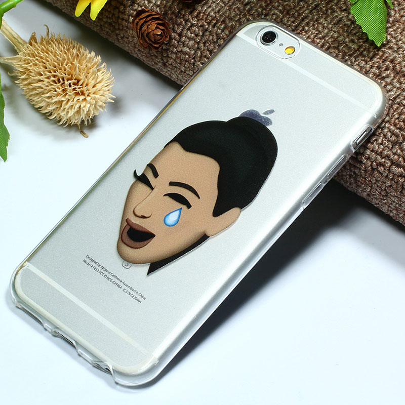 online retailer c3342 be417 US $3.32  Unique Design Ugly Crying Face Kimoji Coque Case For iPhone 6  Plus 6s PlusTransparent Silicone Cell Phone Cases Cover 6 Plus 5.5 on ...