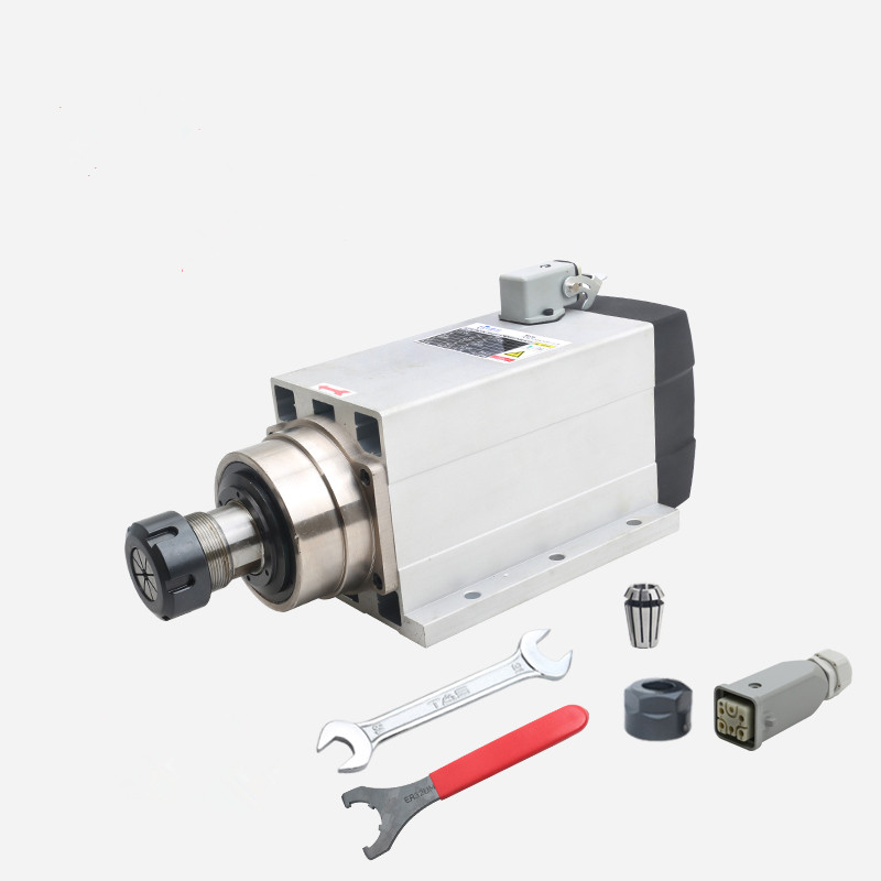 high speed 4.5kw square type ER32 air-cooled spindle motor with flange taiwan besdia air grinders high speed type precision type gp 260 gp 380