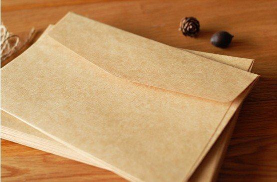 10pcs Thick Envelope Kraft Paper Big Size Envelope Postcard Invitation Letter Stationery Party Favor Paper Bag 17.5x12.8cm
