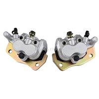 Front Right Left Brake Caliper With Pads For Suzuki Burgman AN400 2007 2008 2009 2010 2011