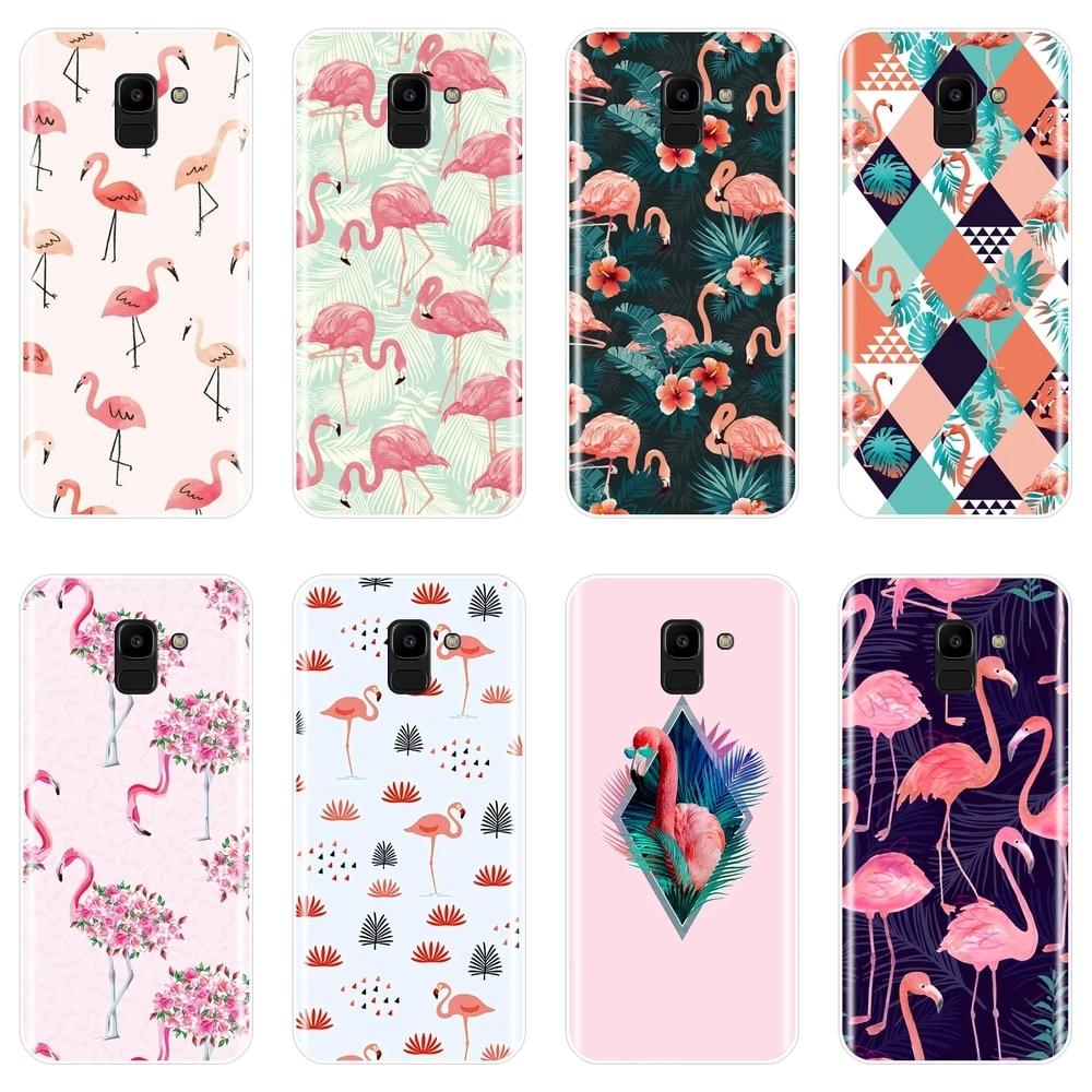 Coque de téléphone à motif flamant rose, étui arrière souple en Silicone pour Samsung Galaxy J3 J5 J7 2016 2017 J4 J6 J8 Plus J2 J5 J7 Prime