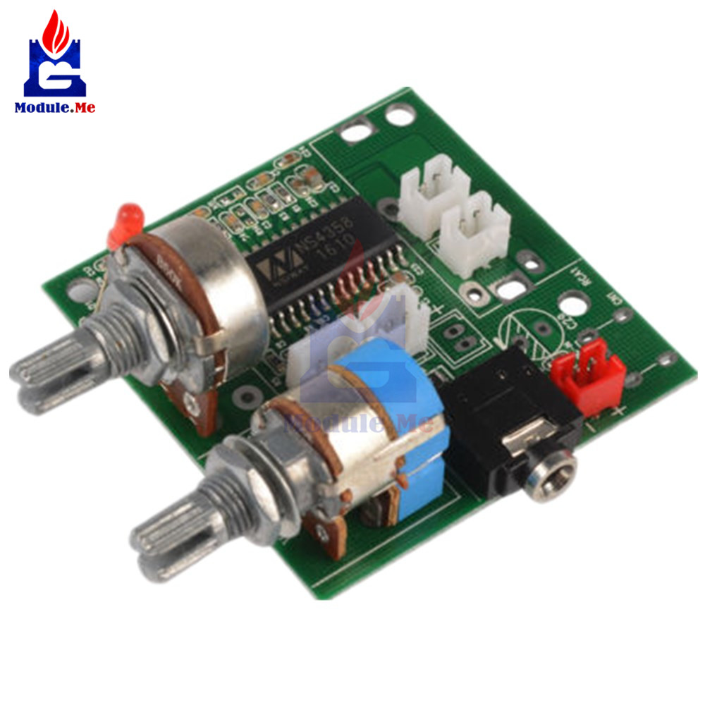 DC <font><b>5V</b></font> 20W <font><b>2.1</b></font> Channel 3D Surround Digital Stereo Class D <font><b>Amplifier</b></font> AMP Board Module For Arduino With Wires image