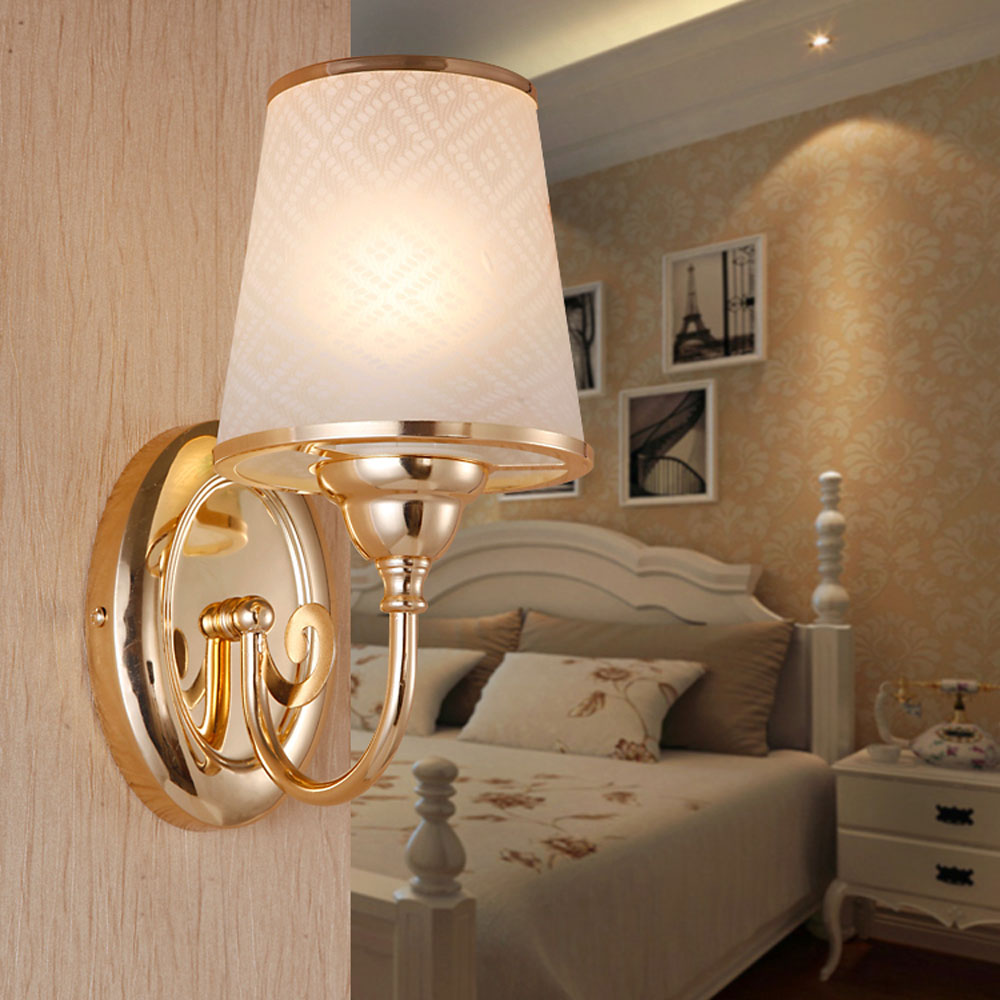 все цены на 2017 Modern Outdoor Wall Light 110v-220v E27 Loft Home Lighting Gold Wall Mounted Bedside Lamps Single 7 Watt LED Without Switch онлайн