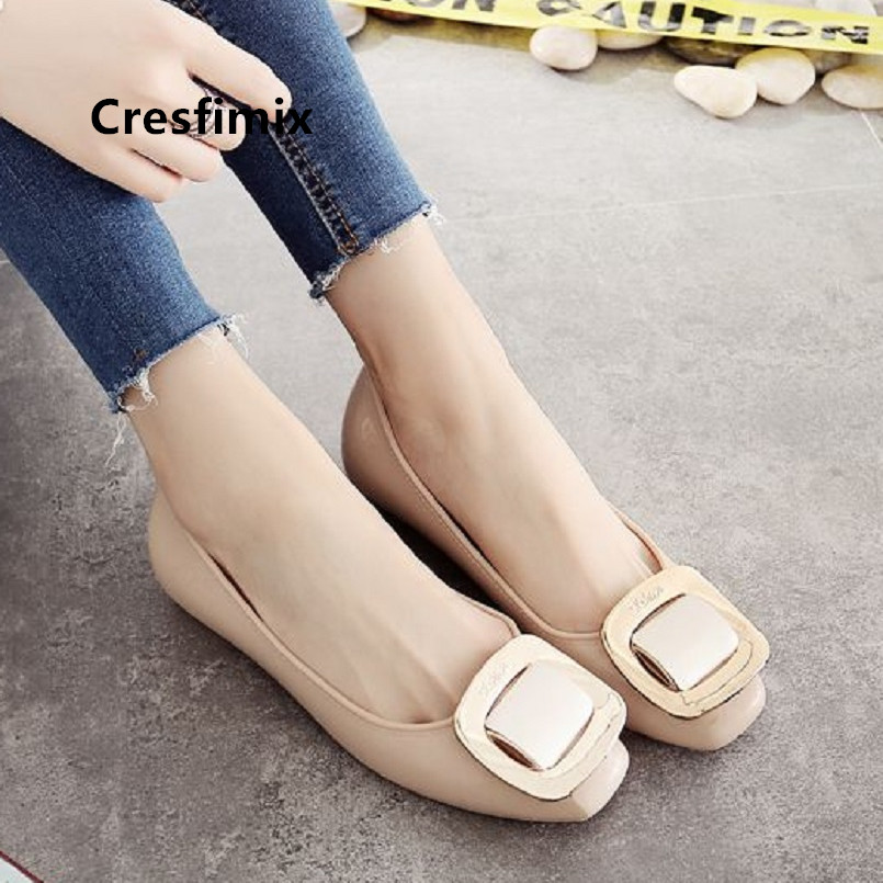 Cresfimix women classic comfortable jelly soft flat shoes zapatos de mujer lady cute beige shoes female casual black shoes a5109Cresfimix women classic comfortable jelly soft flat shoes zapatos de mujer lady cute beige shoes female casual black shoes a5109