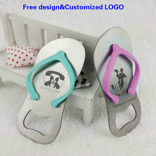 43130a31ae03 Free design Customized Wedding Favor Souvenir Sandal Flip-flop Slipper  Bottle Opener Box Wedding Gift Giveaway DHL Free freight