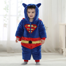 fashion infant overcoat cute superman costume toddler baby snowsuits for boys