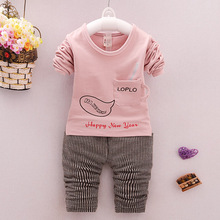 Baby s Clothing Set Sweatshirts Pants 9 to 24M Soft Cotton with Cup Pocket Spring Autumn