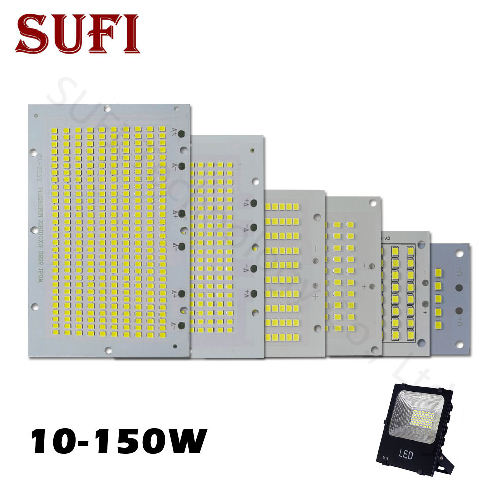 1Pcs Full Power LED Floodlight PCB 10W 20W 30W 50W 100W 150W SMD2835 LED PCB Board Lamp Aluminum Plate For Led Floodlight