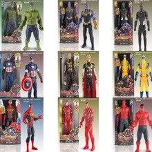 Avenger Hand Model Goods Luminescence Action Doll Led Battle Heroes Captain Hulk, Thanos, Iron man, Spider man,Captain America