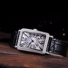 2016 Fashion watch girls women watches black pink bracelet genuine leather strap quartz wristwatches sapphire reloj de mujer
