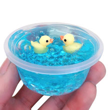 Crystal Mud Duck Mud Mixing Cloud Slime Putty Scented Stress Kids Clay Toy Fluffy Slime Light Cotton Putty Charms Slime Toys(China)