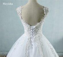 Real Images Vestido De Novia Tulle Wedding Dress 2016 with Pearls Bridal Dresses Robe de Marriage Wedding Gowns