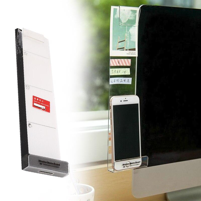 Storage Rack Memo Board Left/Right Monitor Screen Mobile Phone Holders Clips Environmentally Friendly Memorandum Note Photo