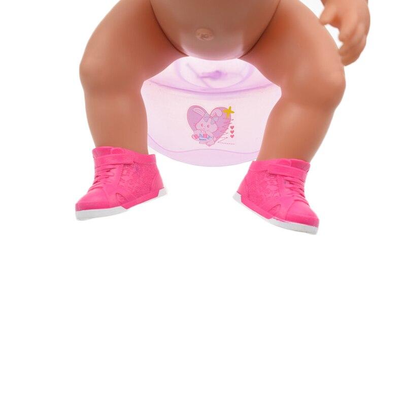 Pink Boots shoes wear fit 43cm Baby Born zapf, Children best Birthday Gift