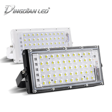 DINGDIAN LED RGB Floodlights AC 220V Outdoor IP66 Waterproof 50W Perfect Power Flood Light Multicolour Spotlights SearchLight