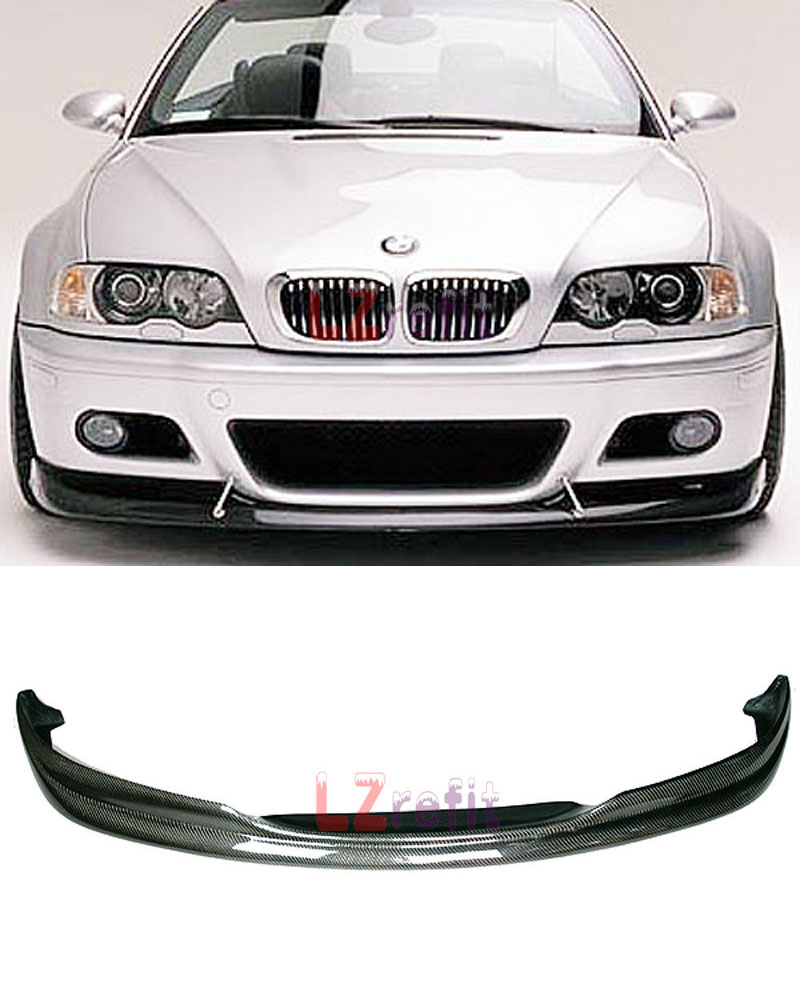 Real Carbon Fiber ACS AC Style Front Lip Spoiler FOR BMW E46 M3 2001-2006