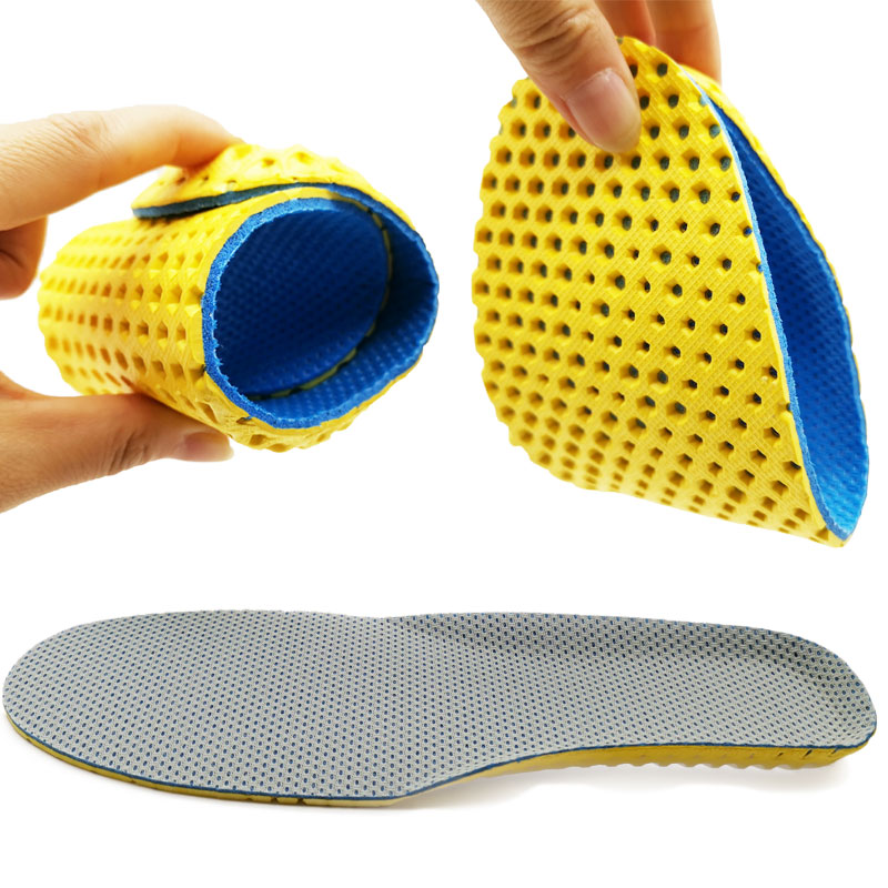 Stretch Breathable Deodorant Running Cushion Insoles For Feet Honeycomb Bottom Insoles For Shoes Sole Orthopedic Pad Memory Foam