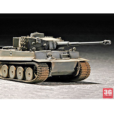 1/72 World War II German Tiger Tank Assembly Tank Model 07242 trumpeter assembled tank model 00910 world war ii german tiger tanks 2 in 1