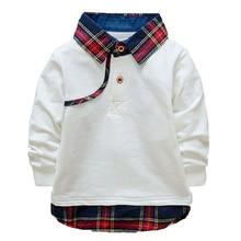New 2016 spring autumn baby Boys clothes Kids Cotton Stripe Long Sleeve Polo Shirt Tops Blouse big boys long sleeve t shirt