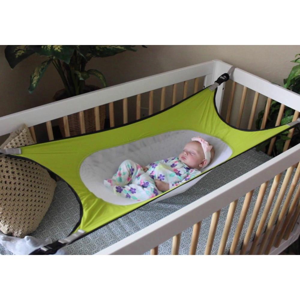 Infants Hammock Baby Garden Swings Cartoon Detachable Adjustable Protable Folding Crib Cotton Newborn Sleeping Bed Outdoor