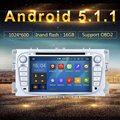 "7 ""2 din Android 5.1.1 Леденец Автомобильный DVD для Ford Focus 2 S-max Mondeo C-max Galaxy с HD 1024*600 Мути сенсорный Экран GPS Navi"