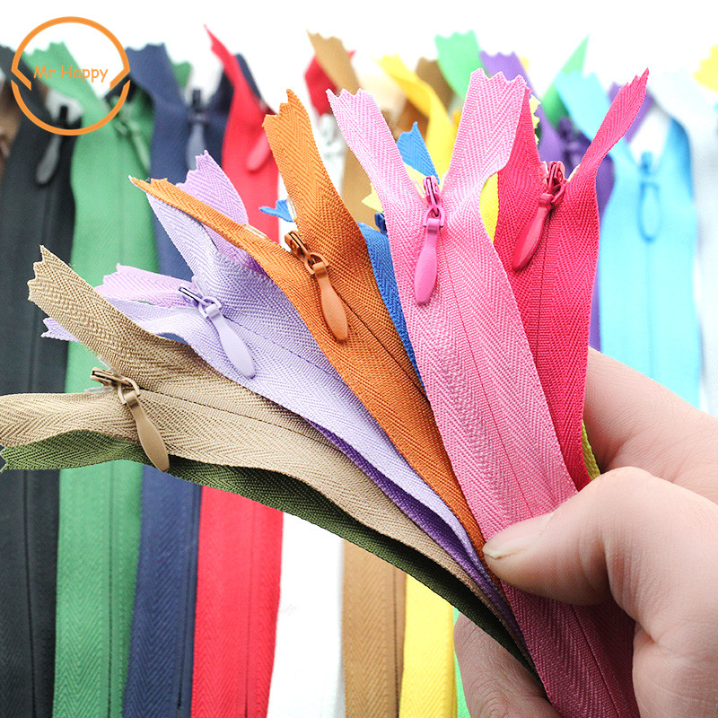 3# 8pcs Invisible Zippers DIY Nylon Coil Zipper 28cm 40cm 50cm 55cm 60cm size For Sewing Clothes Cushion Pillow Tailor Tool