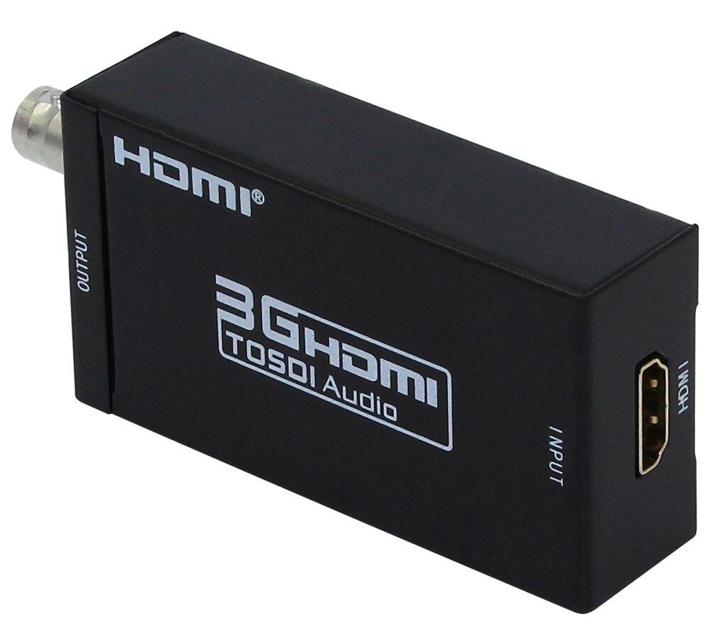 2Pcs/Lot Free Shipping 1PCS Mini 3G 1080P HDMI To SDI SD-SDI HD-SDI 3G-SDI HD Video Converter with Power Adapter Wholesale
