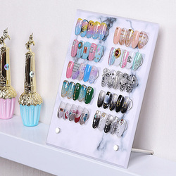 New arrival High Quality False Nail Tip Art Display Stand Board Magnet Adsorption Detachable Color Card Showing Shelf