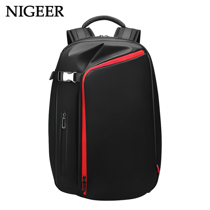 Fashion Teenage Backpack Water Repellent Versatile Men USB Charging 15.6