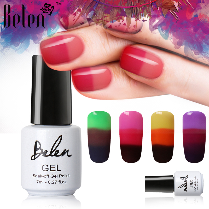 Belen 7ml Gelvernis Nail Gel Polish Kleur Veranderende Chameleon Temperatuur Nagellak Thermal Color Change UV Gel Lacquer Gel