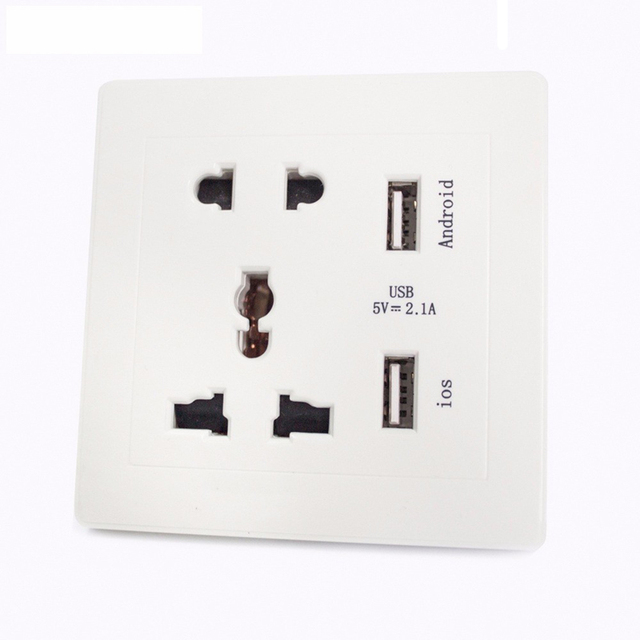 New 86mm Smart USB Wall Socket for Restaurant Wall outlet Universal ...