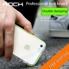 ROCK SGS Certification Guard Series Drop Protection Case for iPhone 6 6s 6s plus back cover Soft TPU + high elastic TPE