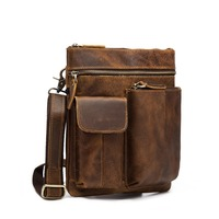 Original Leather Male Casual Design School Shoulder Messenger Crossbody bag Fashion Student Tote Tablets Satchel bag For Men 308