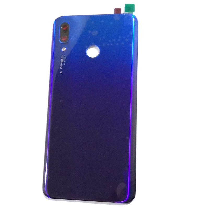 For Huawei Nova 3 Battery Cover Back Rear Door Housing For Nova3 Back Frame Glass With Camera Lens Nova3
