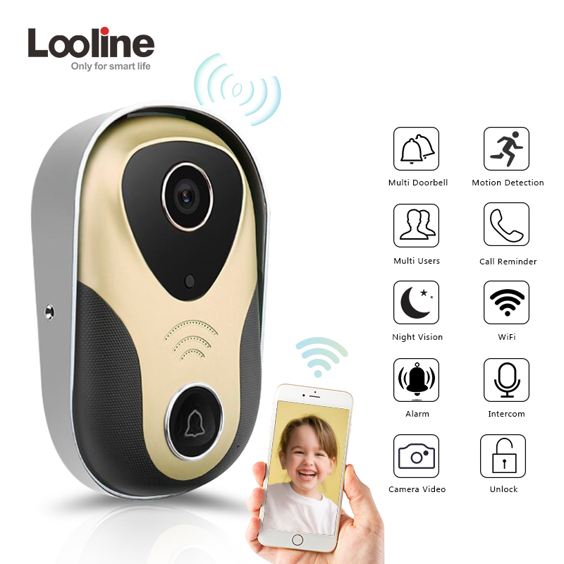 Video Intercom Door Phone Door Viewer Video Call Looline 720P HD IP Doorbell Support POE Video Portero Wifi Doorbell Camera