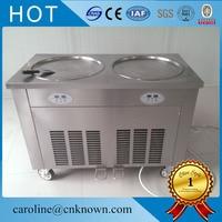 220 v 110 v 45 cm square double pan fried ice cream machine ice cream machine roll double roll compressor milk