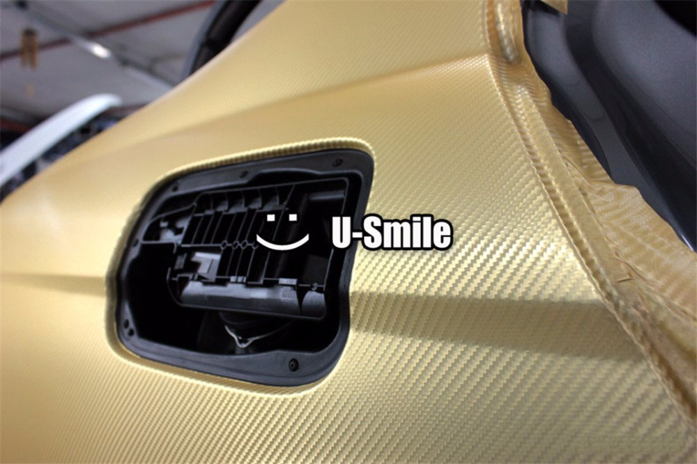 D Gold Carbon Fiber Vinyl Car DIY Wrap Sheet Roll Film Sticker - Car sticker designcheap carbon vinyl sticker buy quality carbon time directly from
