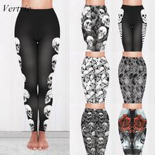 Vertvie Women Printed Leggings Full-Length Workout Slim Gym Legging Pants Capri High Waist Stretch Seamless Yoga