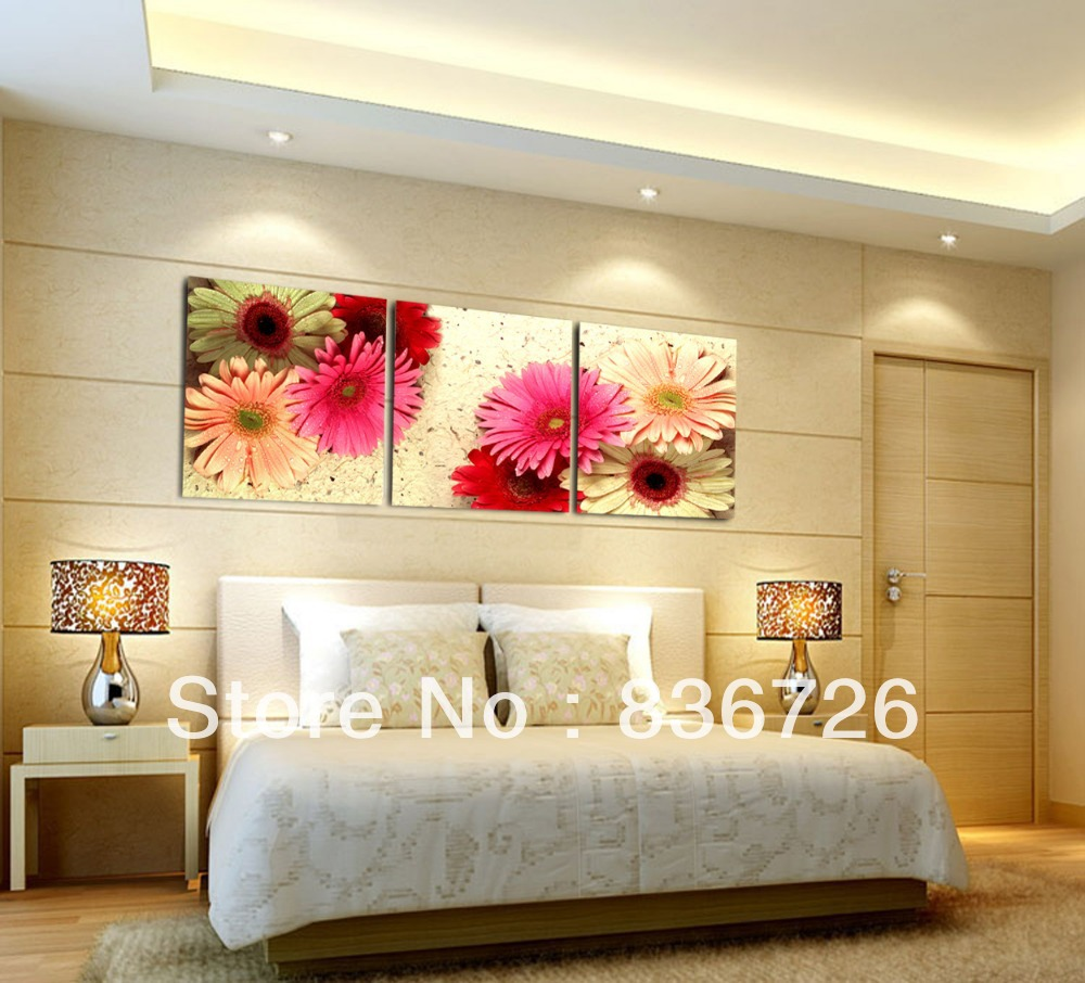 3 piece canvas wall art Room decoration Contemporary bedroom set ...